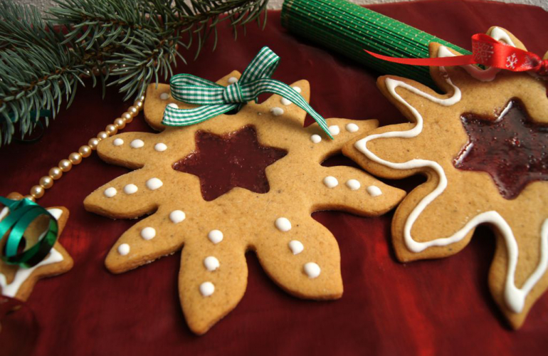 Recept na vánoční perníčky s vitráží podle Marcely