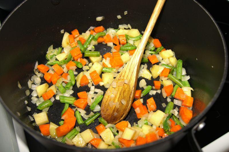 restování zeleniny